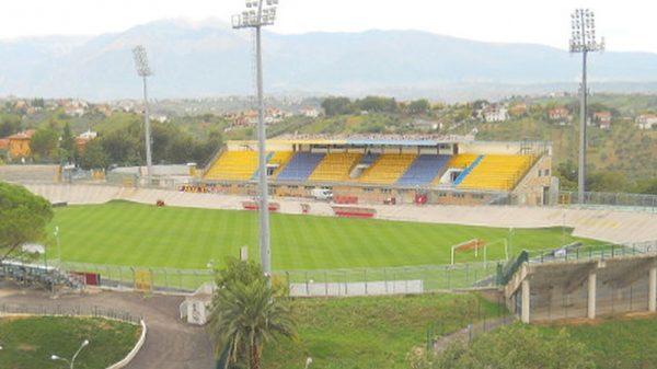 La tribuna dello stadio Guido Biondi