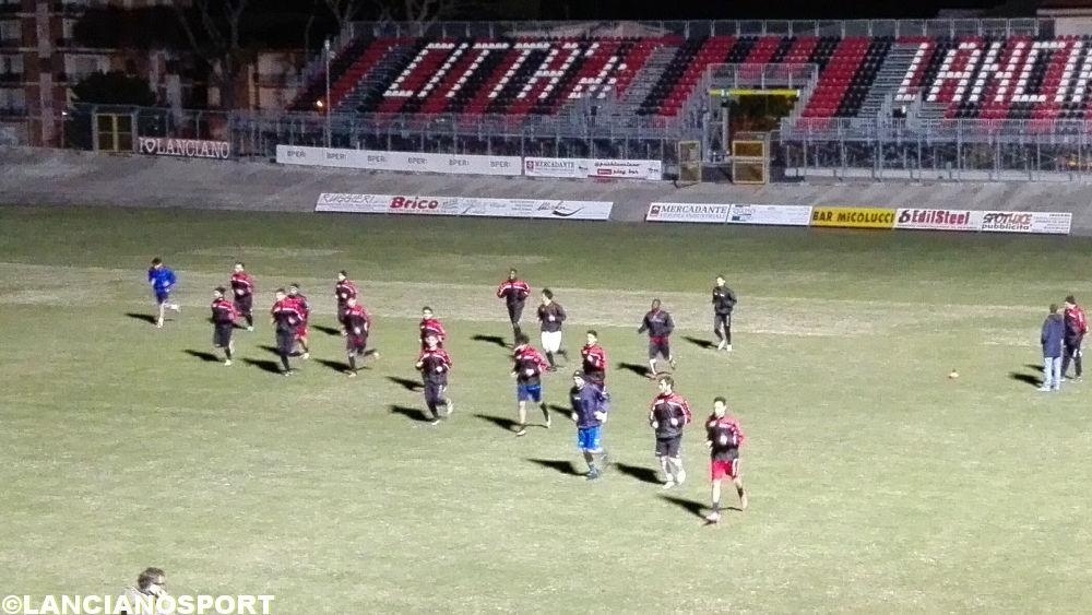 I rossoneri sul prato del Biondi per preparare lo sfida con lo Scerni