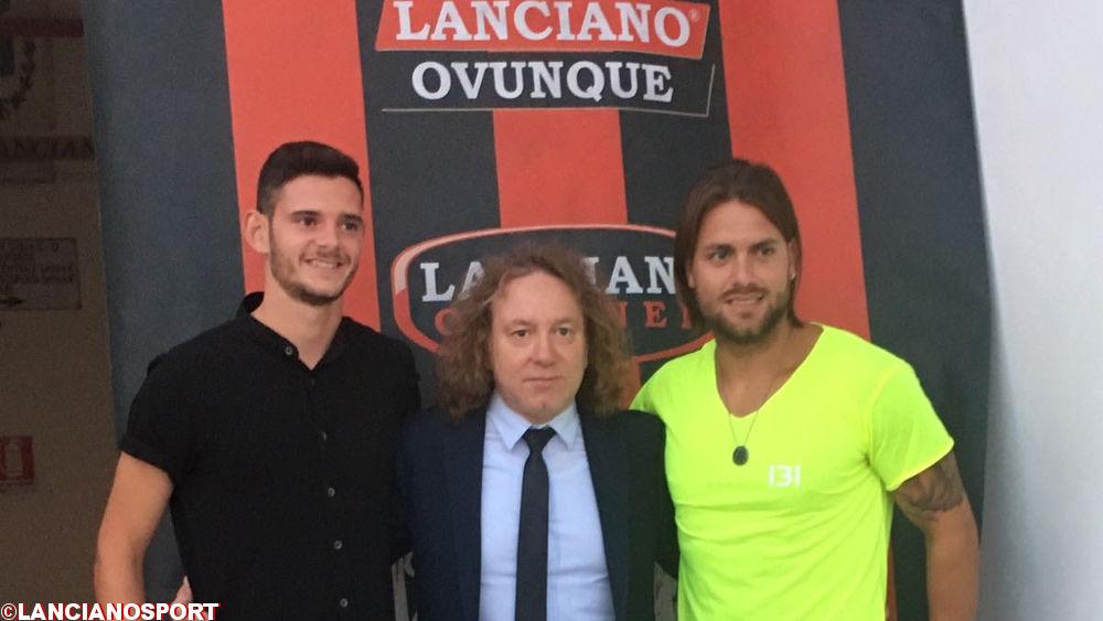 La presentazione di Tarquini e Ballanti allo stadio