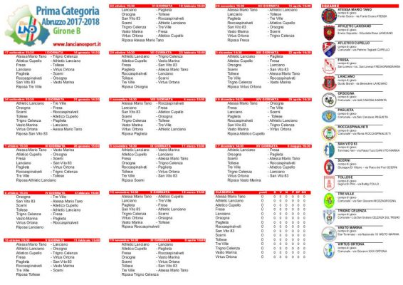 calendario prima categoria b liguria - photo#4