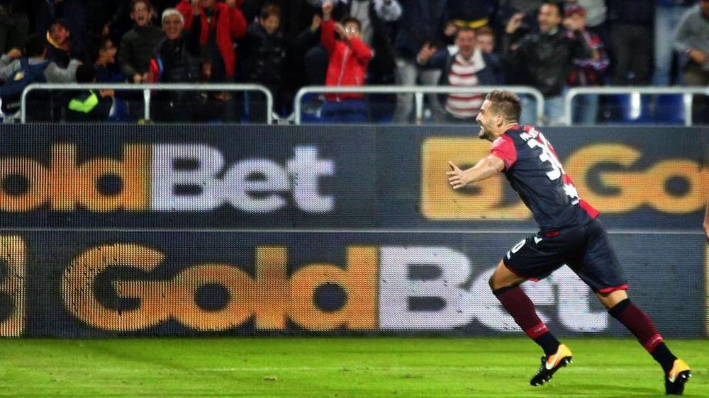 Primo gol decisivo di Pavoletti con la maglia del Cagliari