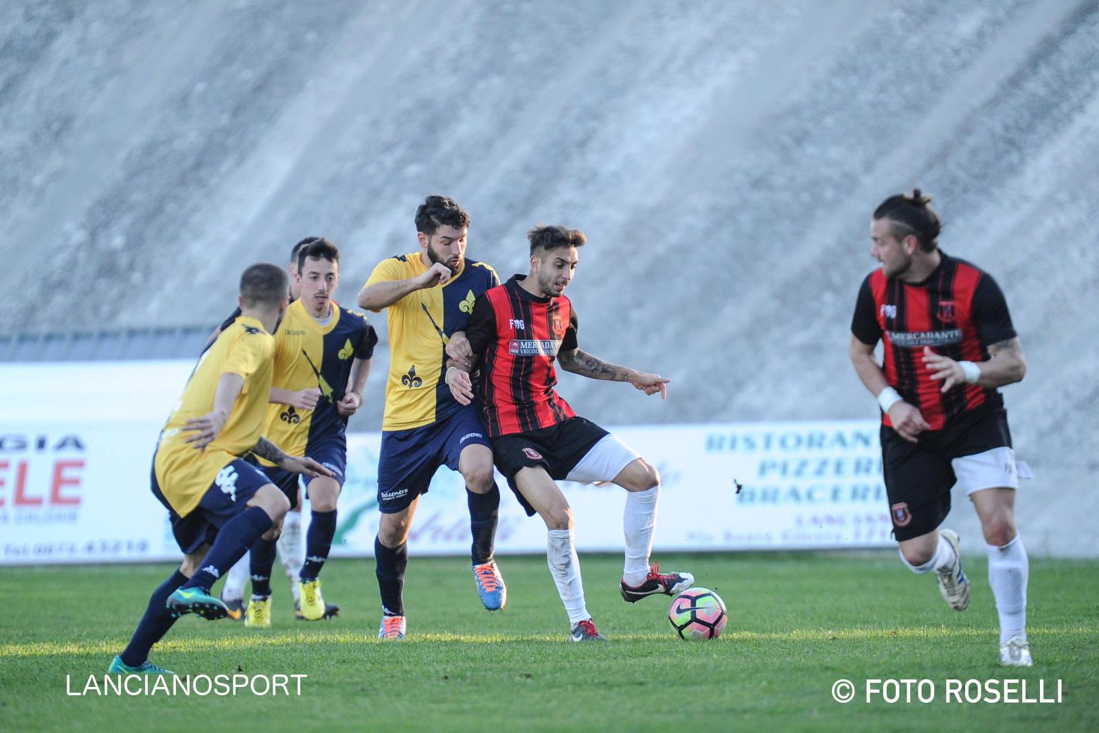 Il derby al Lanciano: Athletic sconfitto con due gol nei finali di tempo
