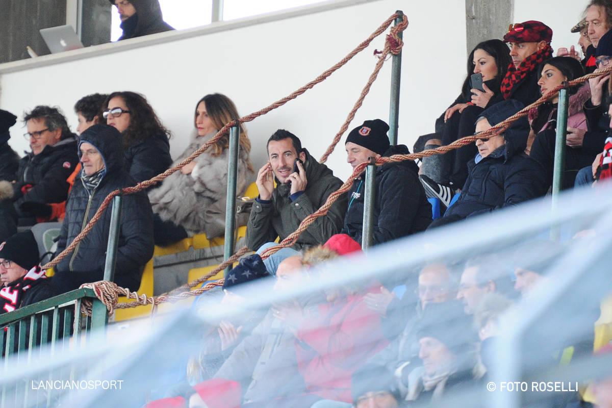 Il ritorno di Di Cecco al Biondi: l'ex virtussino in tribuna per Lanciano-Scerni