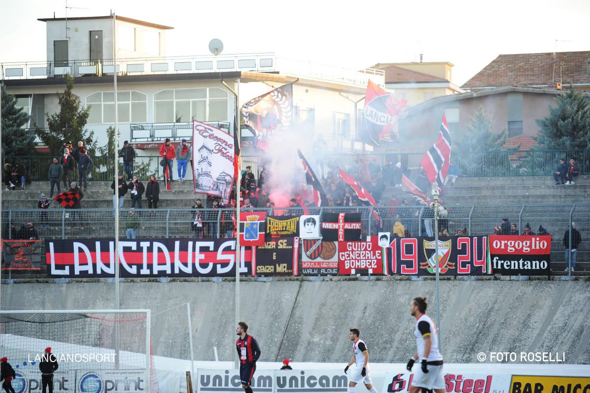 Gli ultras boicottano Paglieta-Lanciano: «Costo del biglietto eccessivo»