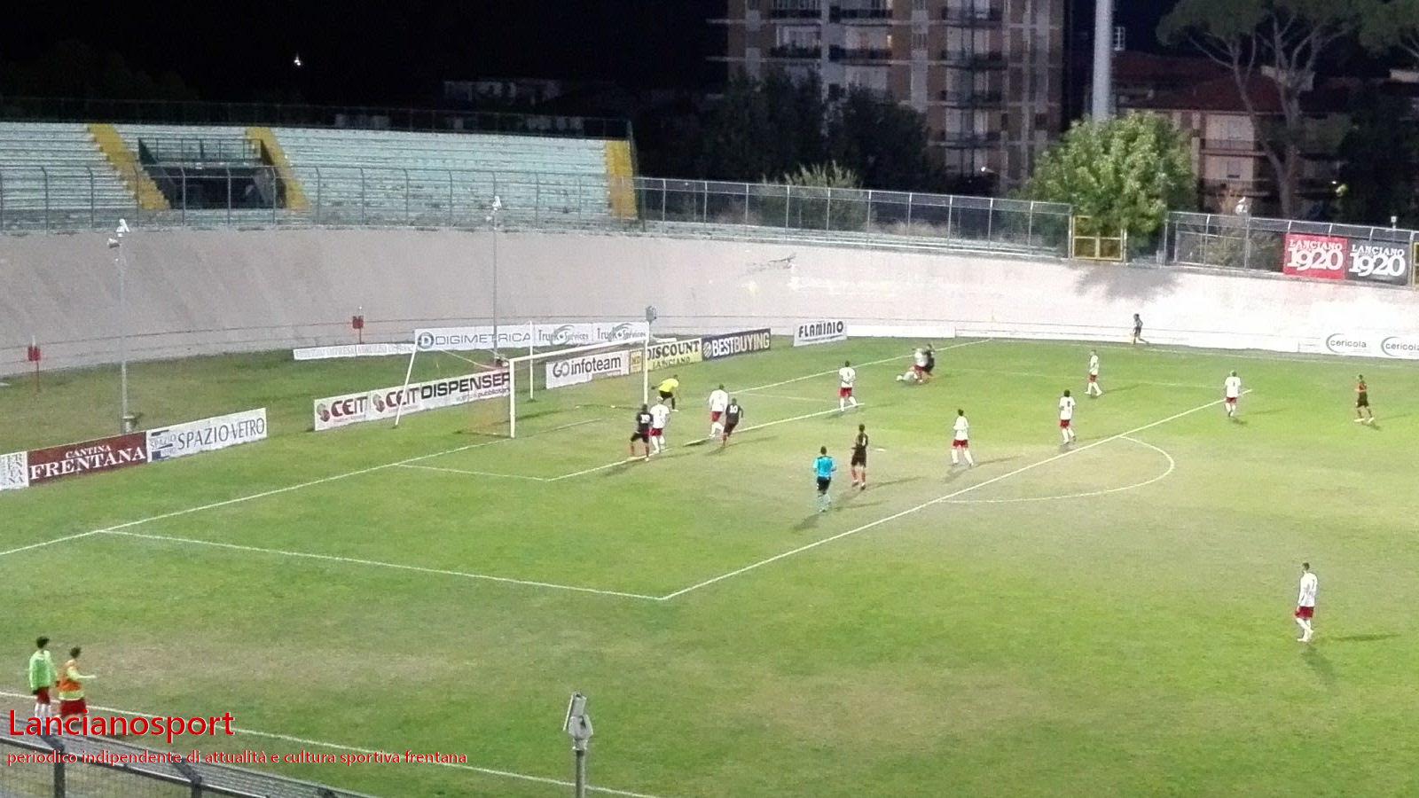 Il Lanciano cambia marcia nella ripresa e piega il Sant'Anna: rossoneri primi da soli a punteggio pieno