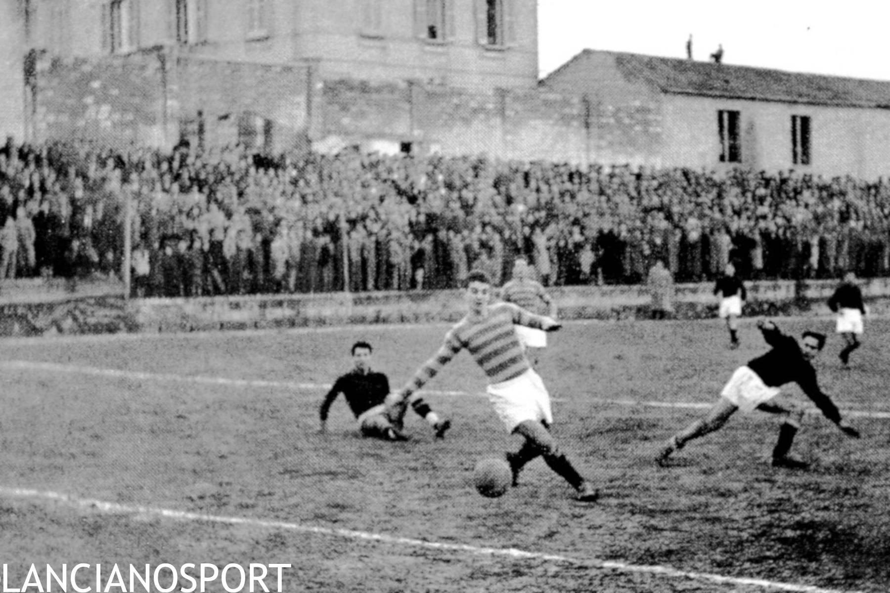 La lotta fuori dal campo tra Lanciano e Giulianova che nel 1954 passò per Nereto
