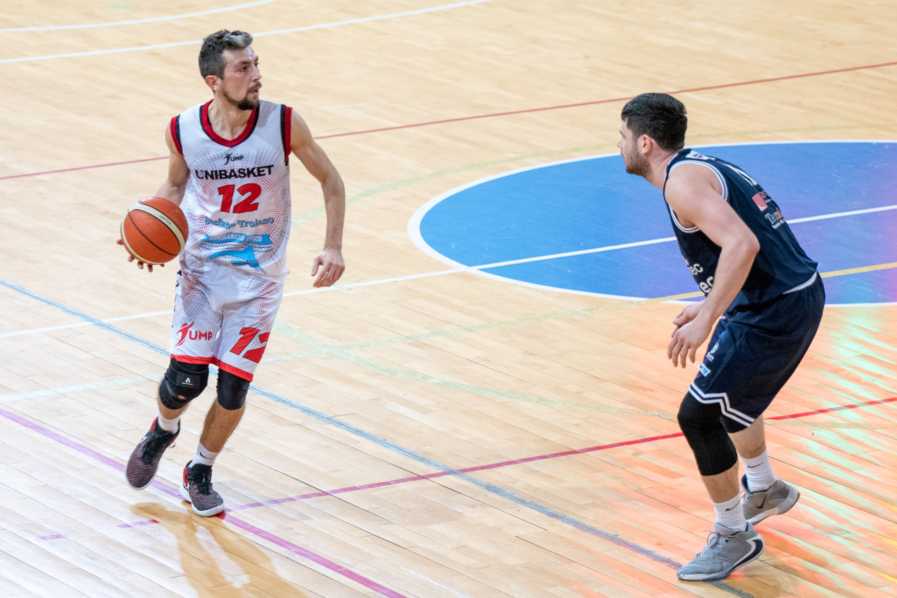 Il play dell'Unibasket Ucci: «A Pesaro pronti a una battaglia»