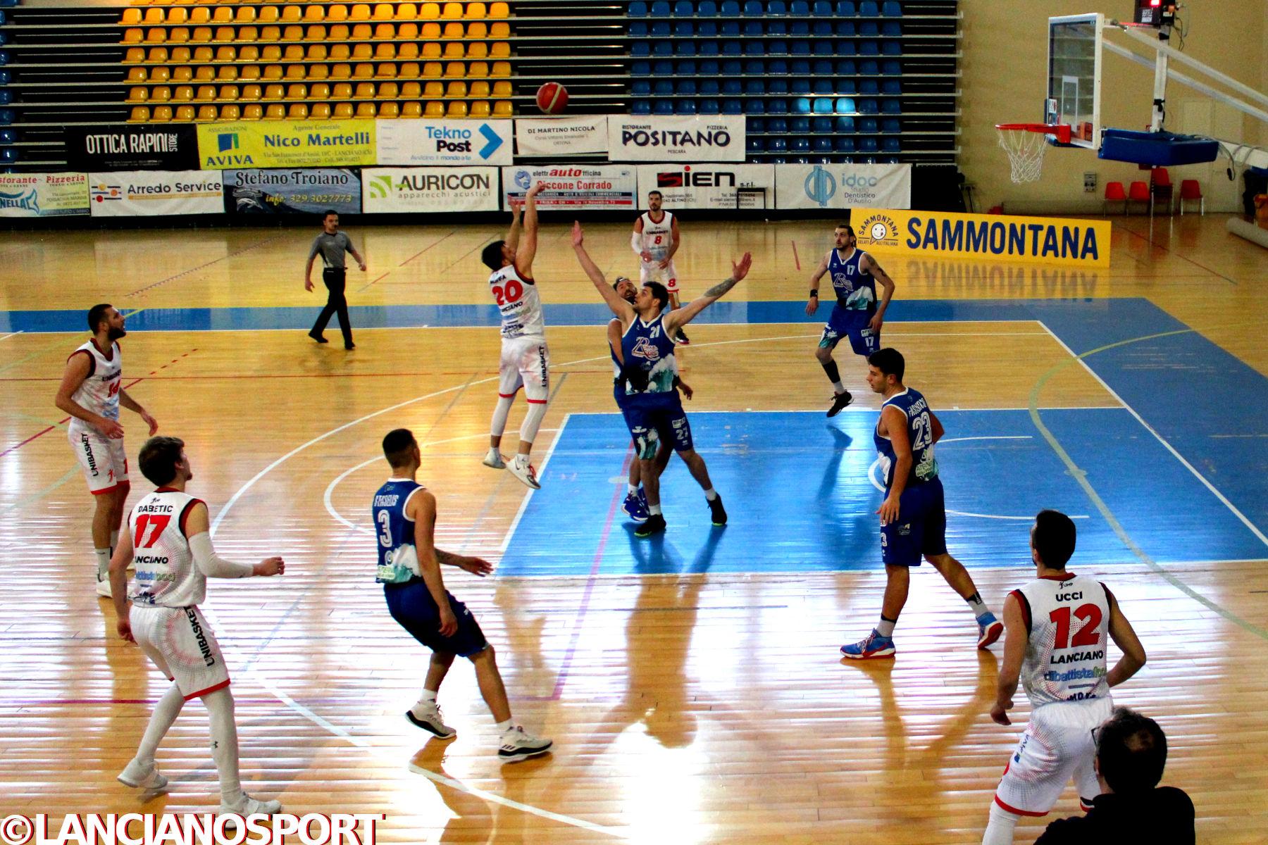 Pescara supera l'Unibasket al supplementare